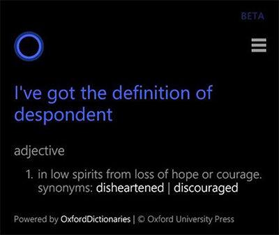 Cortana Di Windows 9 Akan Memiliki Fitur Kamus
