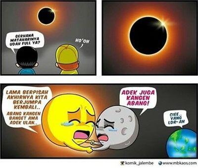 Meme Gerhana Matahari 1