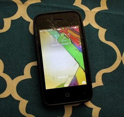 Layar Smartphone Retak 18