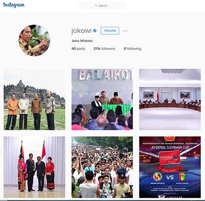 Instagram Presiden Jokowi