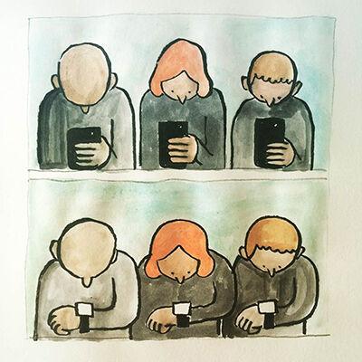 Ilustrasi Menyedihkan Teknologi 4