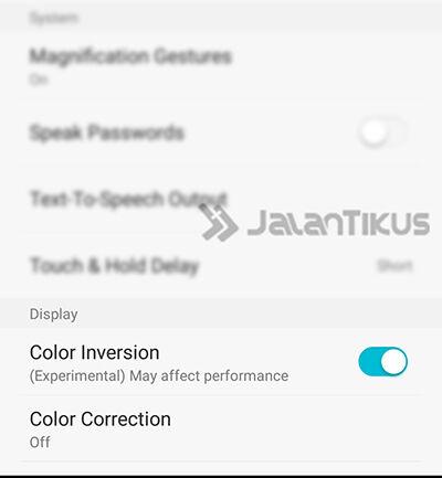 Smartphone Android Pengguna Gangguan Penglihatan 2