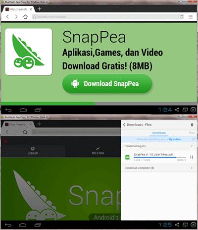 Cara Install Snappea Di Bluestack 1