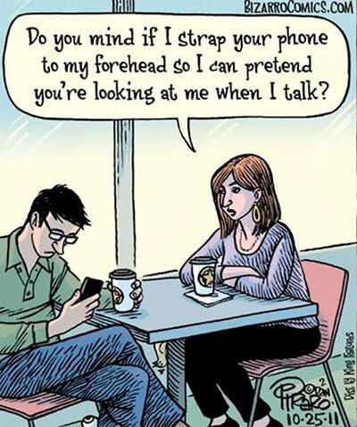 Ilustrasi Menyedihkan Dampak Smartphone 14