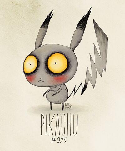 Ilustrasi Pokemon Menyeramkan Ala Tim Burton 25