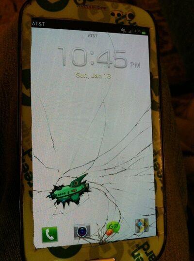 Layar Smartphone Retak 20