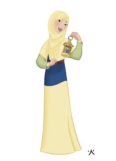 Karakter Disney Berhijab 7