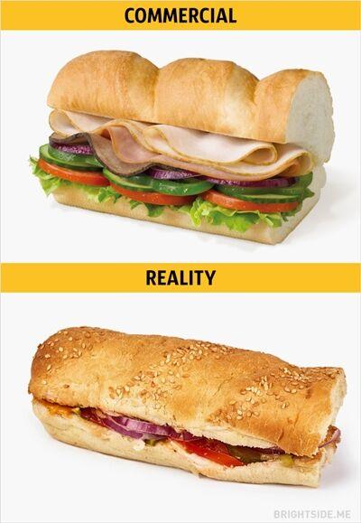 Iklan Vs Realitan Makanan Cepat Saji 11