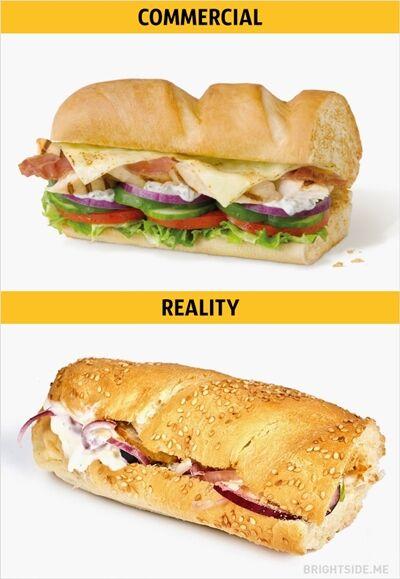 Iklan Vs Realitan Makanan Cepat Saji 13