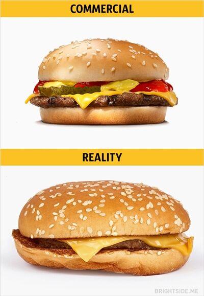 Iklan Vs Realitan Makanan Cepat Saji 16