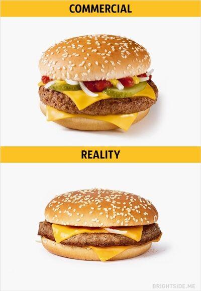 Iklan Vs Realitan Makanan Cepat Saji 5