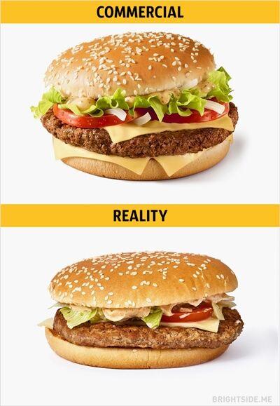 Iklan Vs Realitan Makanan Cepat Saji 7