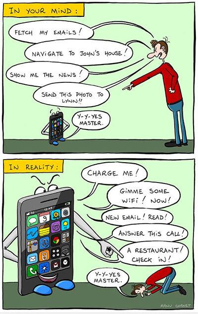 Ilustrasi Menyedihkan Dampak Smartphone 5