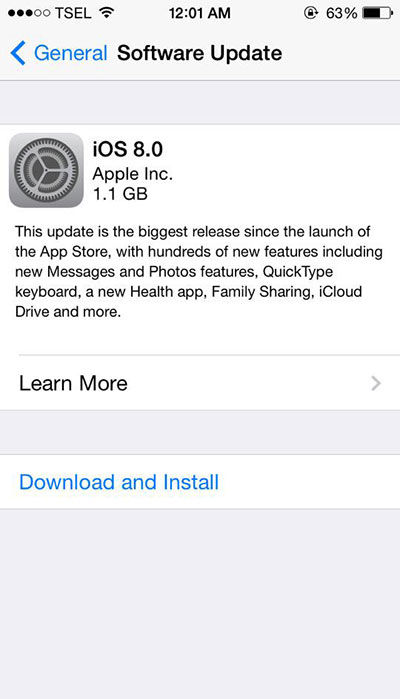 Hal Yang Wajib Dilakukan Sebelum Download IOS 8 2