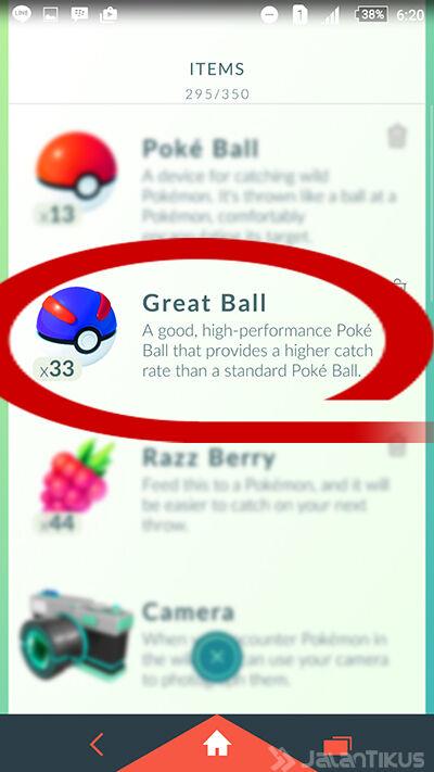 Lempar Pokeball 6
