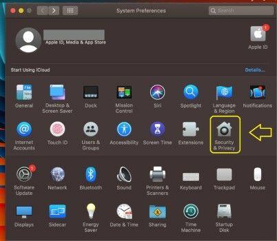 Cara Menonaktifkan Firewall Di MacOS Catalina Pilih System Privacy 1c8b3