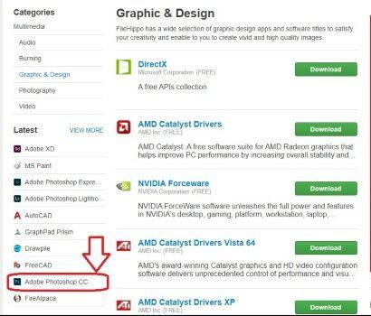 Cara Langkah Lengkap Mudah Download Photoshop Gratis Filehippo Pilih Latest Aa364