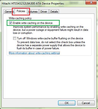 Disk Write Caching 2