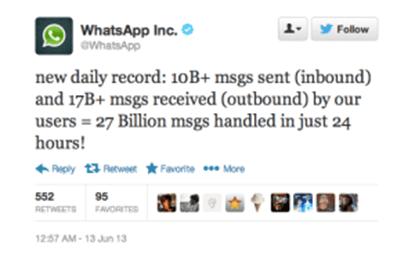 Whatsapp Messenger Terus Berkembang Dibanding Aplikasi Messenger Lain