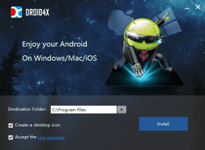 Droid4x Emulator Android