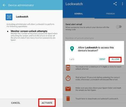 Langkah Dua Aplikasi Lockwatch 6cf81