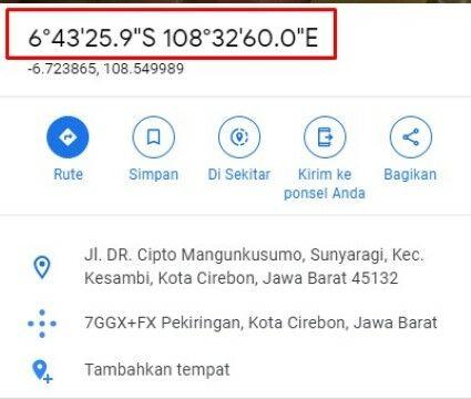 Cara Mengetahui Koordinat Di Google Maps Fa2dd
