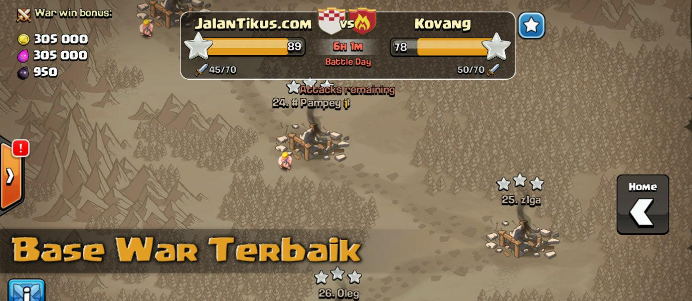 Formasi Base Clash of Clans Terbaik Untuk Clan War