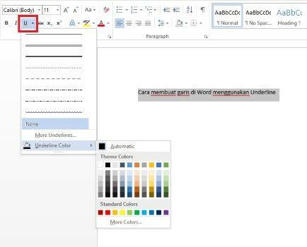Cara Membuat Garis Di Word 2010 23651