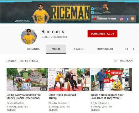 Channel Youtube Eksperimen Sosial Riceman Custom E2537