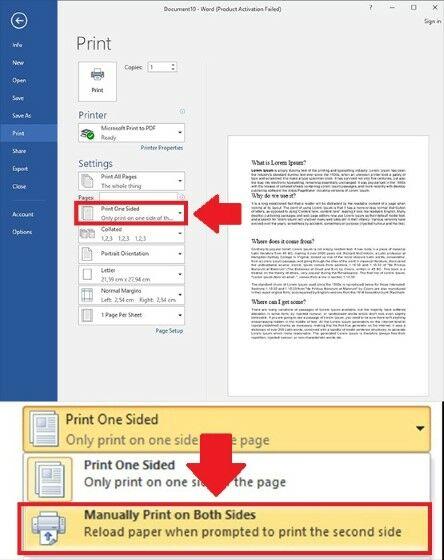 Cara Print Bolak Balik Di Word Manual 1 661ae