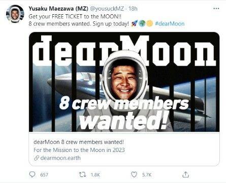 Yusaku Maezawa Ajak Ke Bulan Gratis E6da0