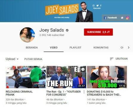 Channel Youtube Prank Joey Salads Custom 87f74