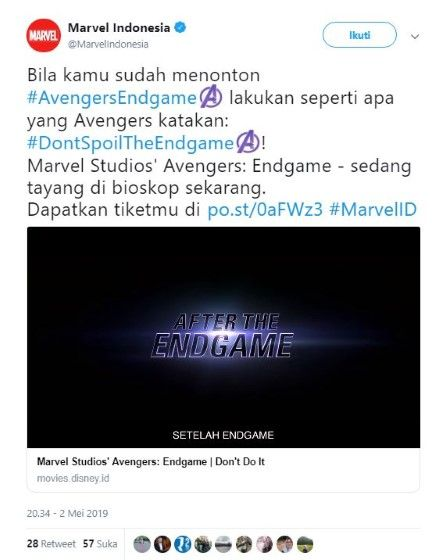 Kejadian Penonton Avengers Hastag E9b75