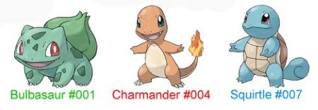 Starter Generasi Pokemon 1