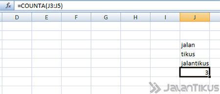 Cara Menggunakan Fungsi Count Di Excel Counta