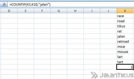 Cara Menggunakan Fungsi Count Di Excel Countif Kata