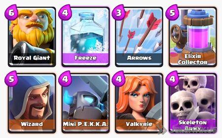 Battle Deck Royal Giant Clash Royale 1