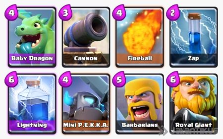 Battle Deck Royal Giant Clash Royale 10