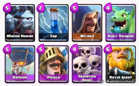 Battle Deck Royal Giant Clash Royale 11