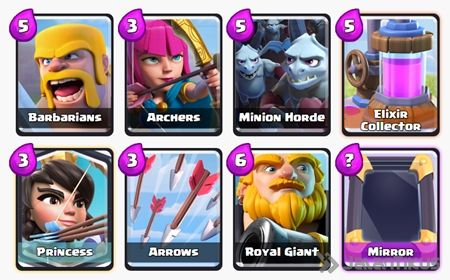 Battle Deck Royal Giant Clash Royale 13