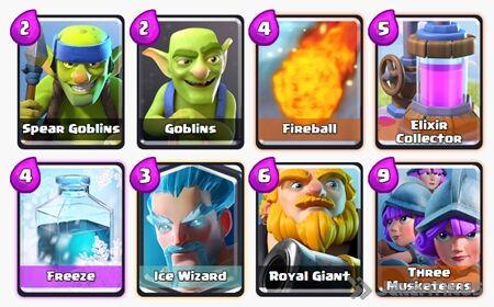 Battle Deck Royal Giant Clash Royale 14