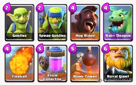 Battle Deck Royal Giant Clash Royale 15