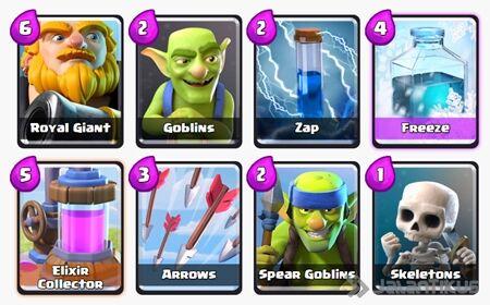 Battle Deck Royal Giant Clash Royale 16