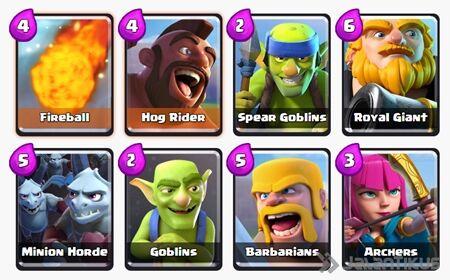 Battle Deck Royal Giant Clash Royale 2