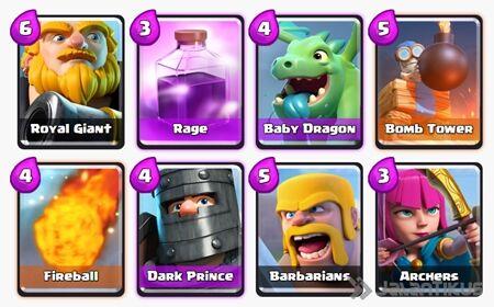 Battle Deck Royal Giant Clash Royale 4