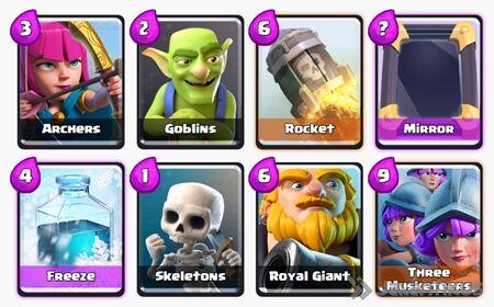 Battle Deck Royal Giant Clash Royale 5