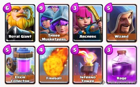 Battle Deck Royal Giant Clash Royale 7