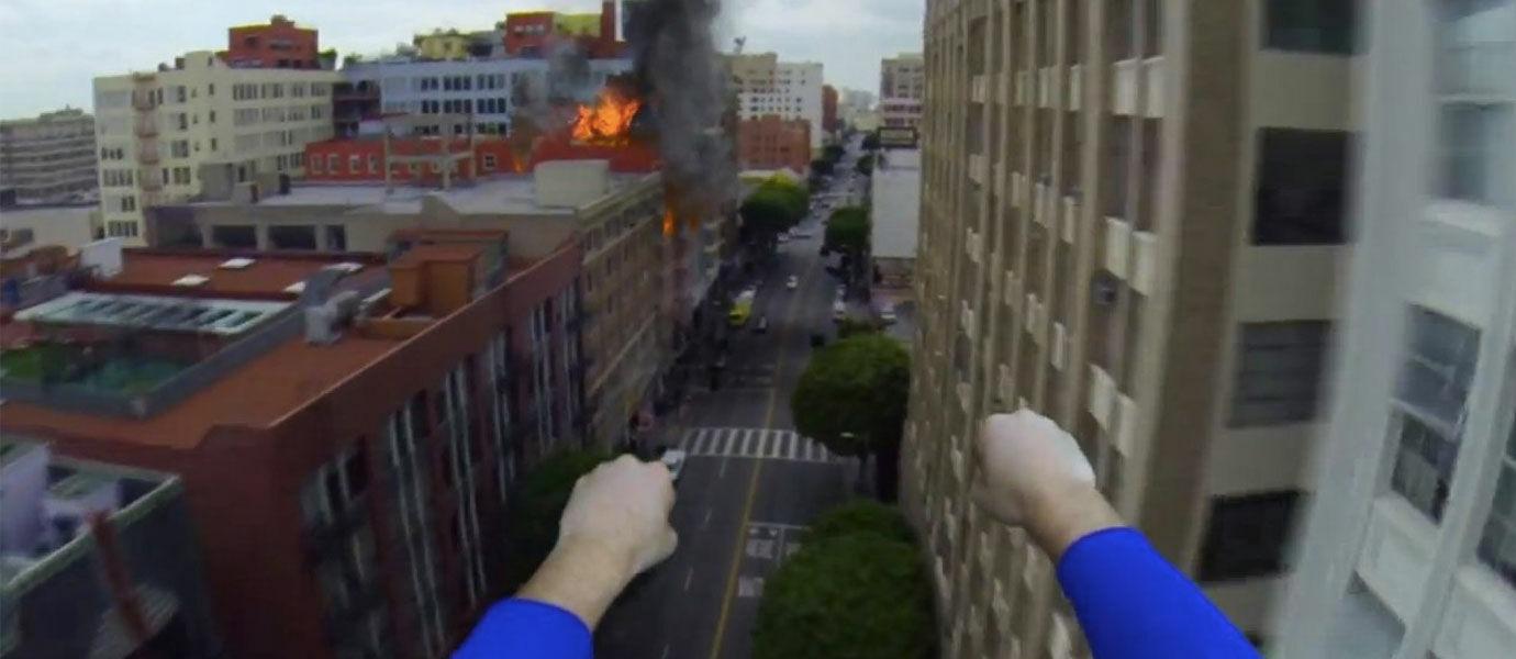 Aksi Heroik Superman Terekam Menggunakan Kamera GoPro