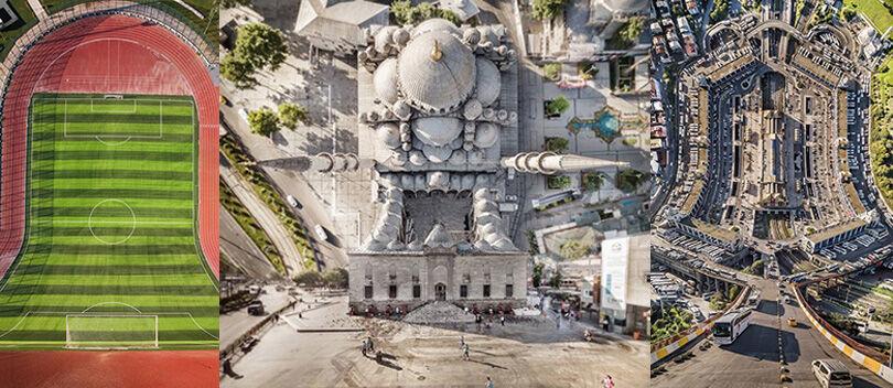 12 Foto Menakjubkan Kota yang Bengkok Akibat Manipulasi Digital