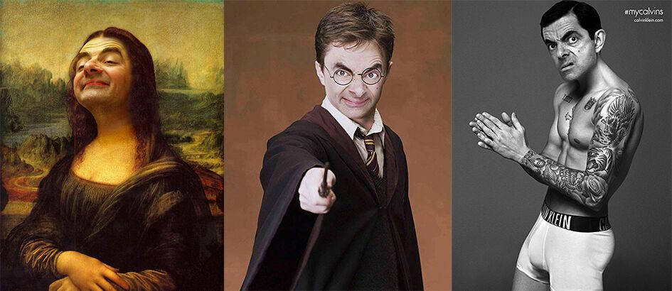 10 Foto Super Kocak Mr. Bean Hasil Editan Master Photoshop